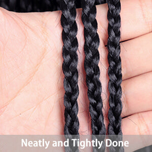 All hand braided, this unit can give you a neatly and tightly done looking