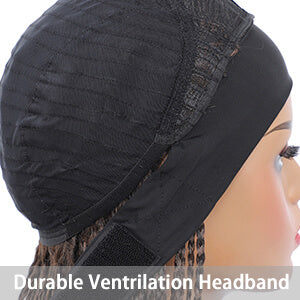 Durable ventrilation headband design easy to style and look natural