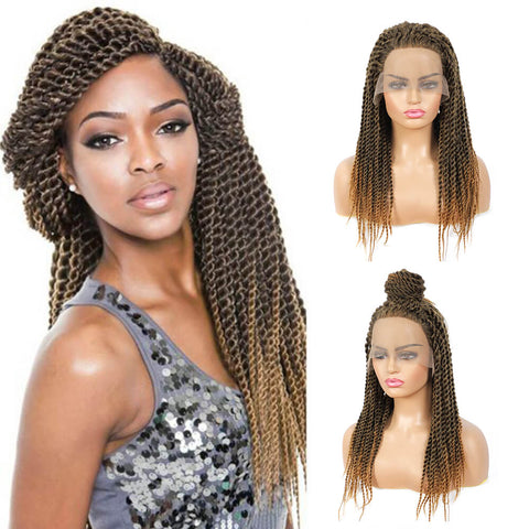Senegalese twist braided wigs 1B/27 color