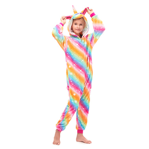 Rainbow Stripe One Piece Sleepwear
