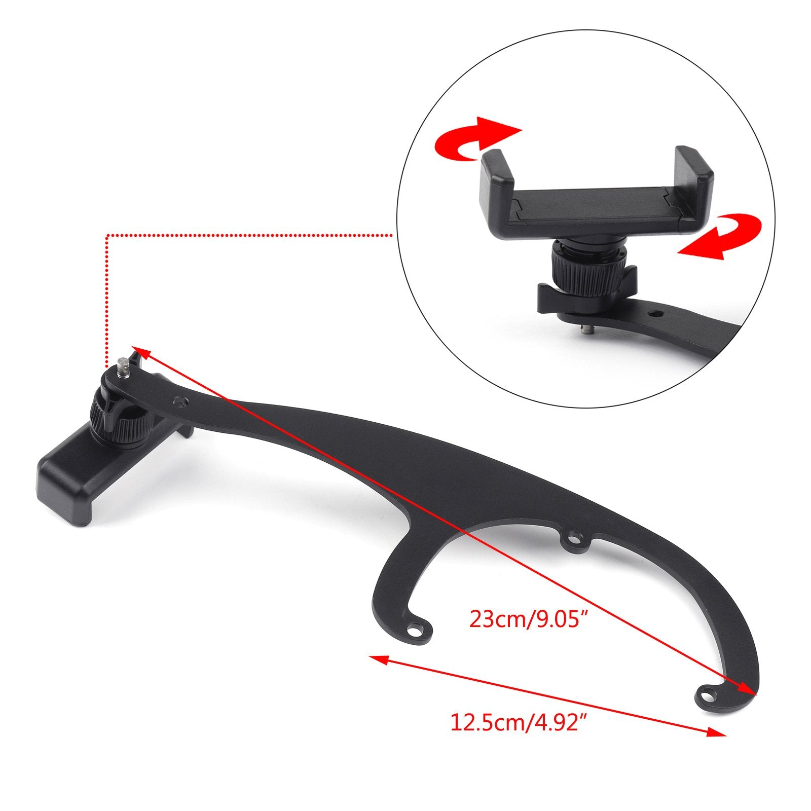 Car Phone GPS Mount Holder Stand Fit For Mini Cooper Gray Generic