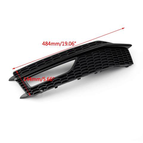 Bumper Fog Light Lamp Cover Grille Grill For Audi A4 S-line S4 (2013-2015) Generic