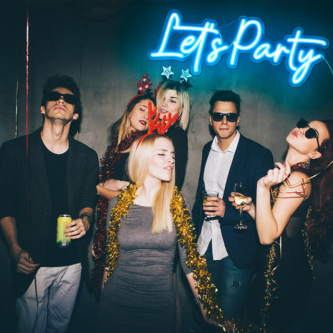Let's Party Light Sign