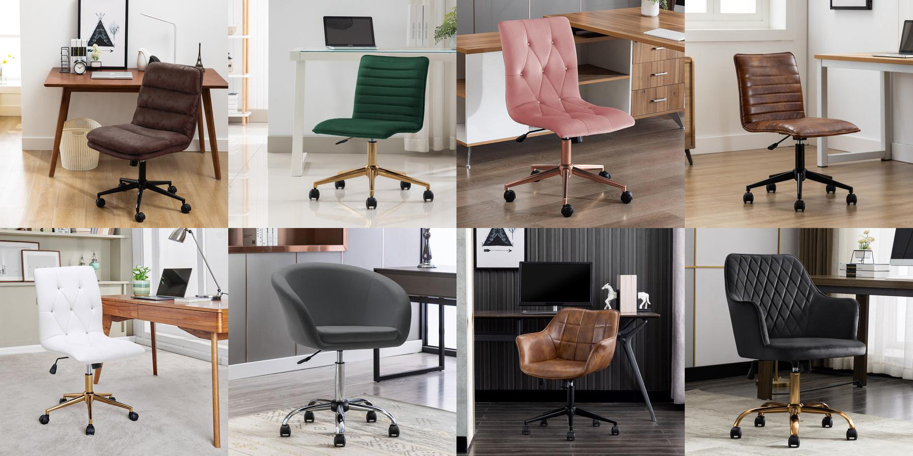 duhome swivel office chairs