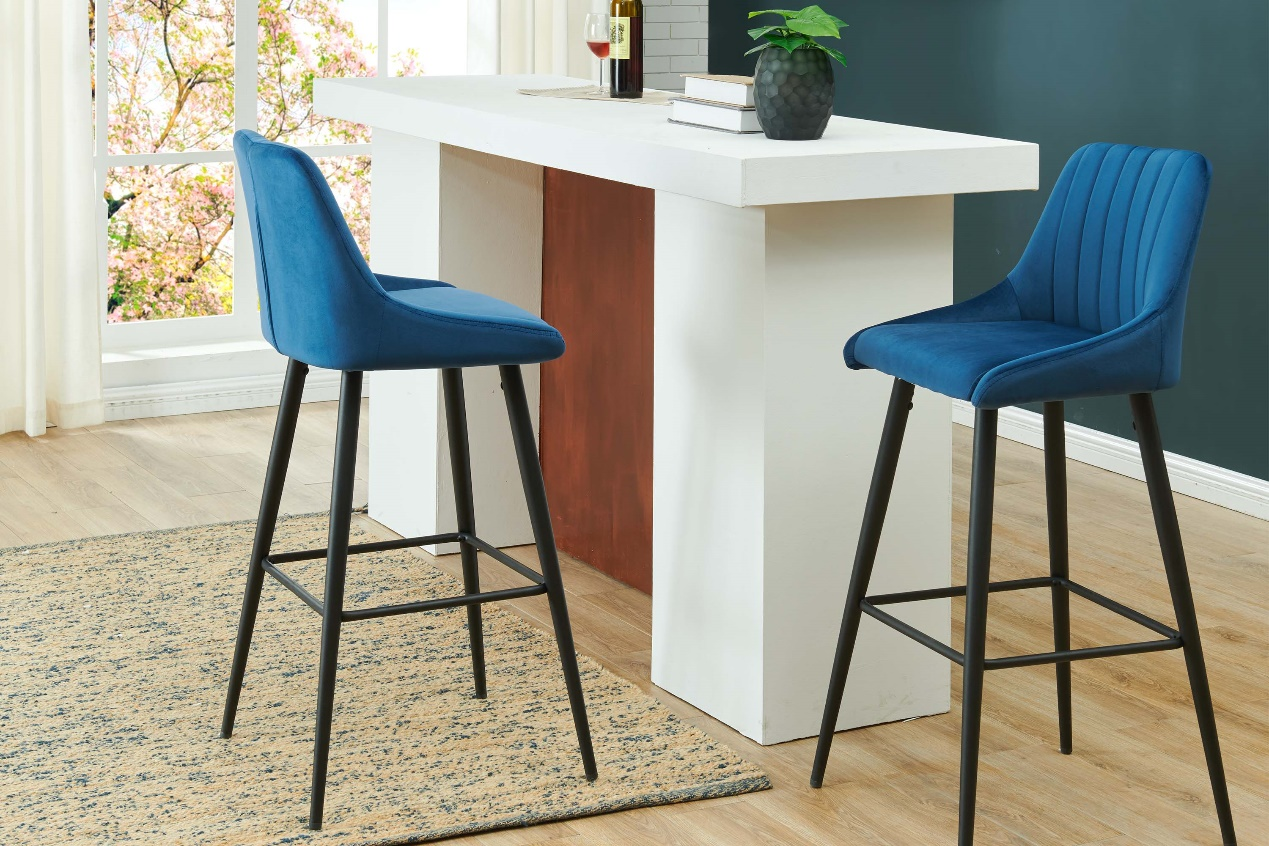 26-30 inches are the perfect distance between each bar stool