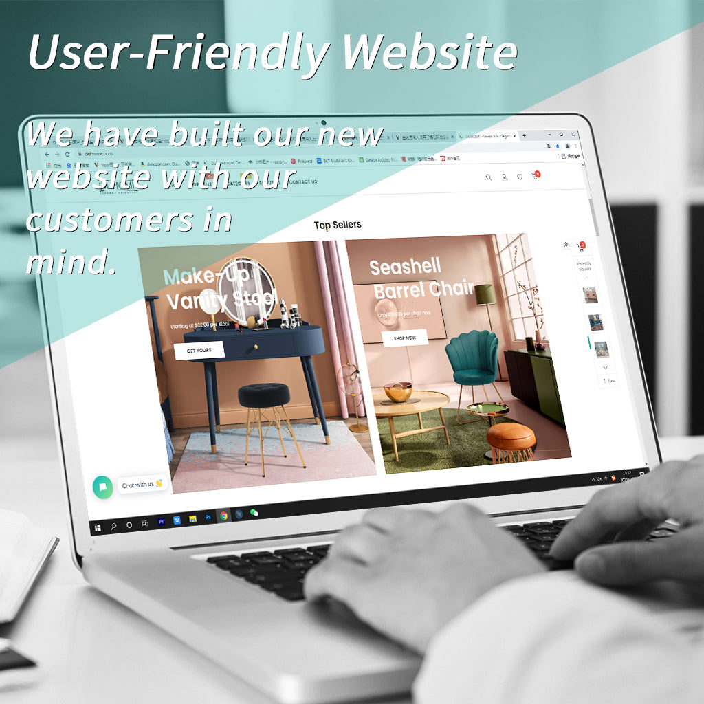 user-friendly new website of duhome