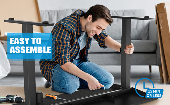 Maidesite electric standing desk is easy to install
