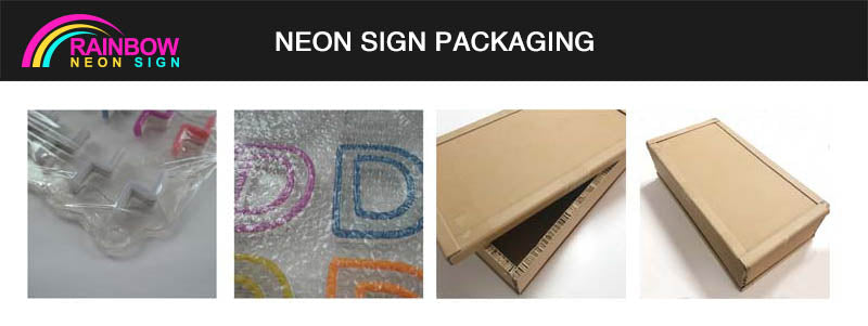 Custom neon sign packaging