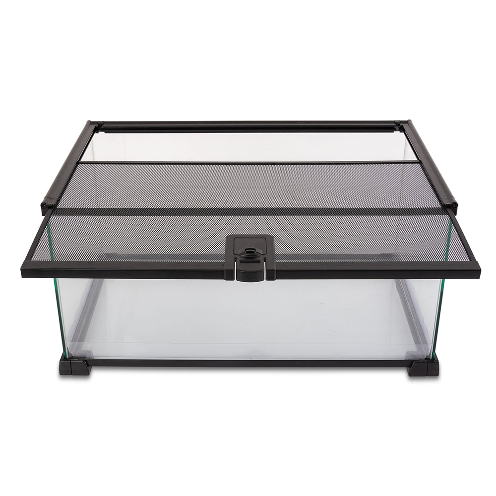 There's a top view in using the REPTI ZOO reptile terrarium
