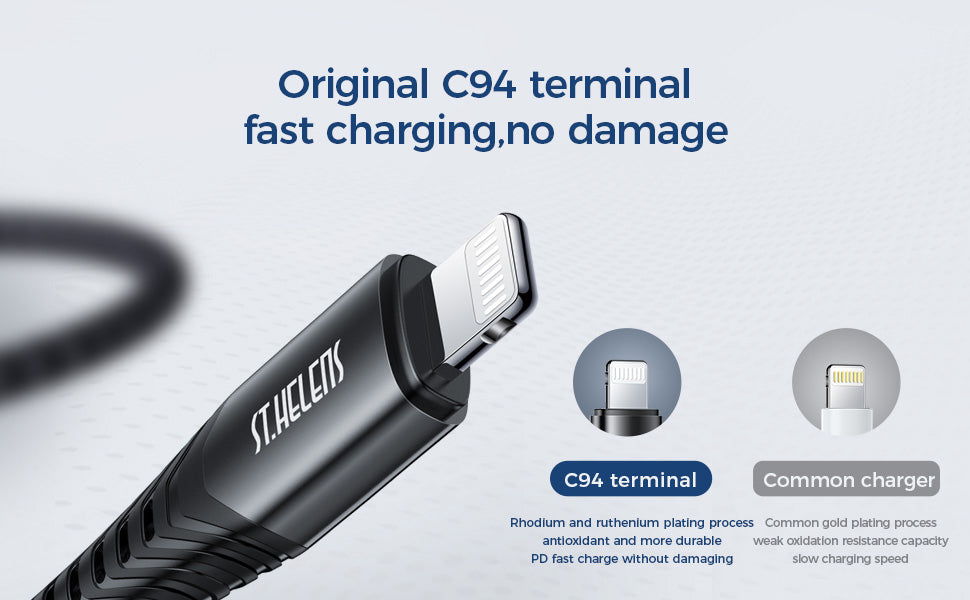 JOYROOM Type-C to Lightning 20W PD Fast Charger MFi Certified DataCable