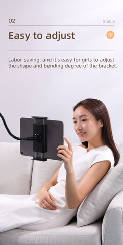 Universal Lazy Long Arm 360° Adjustable Clamp Bracket Stand for Bed/Sofa/Table 5
