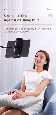 Universal Lazy Long Arm 360° Adjustable Clamp Bracket Stand for Bed/Sofa/Table 6