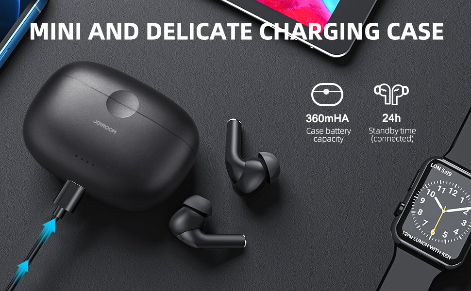 TA2 Active Noise Cancelling Wireless Earbuds ANC/Bluetooth 5.2/in-Ear for Work, Home, Office