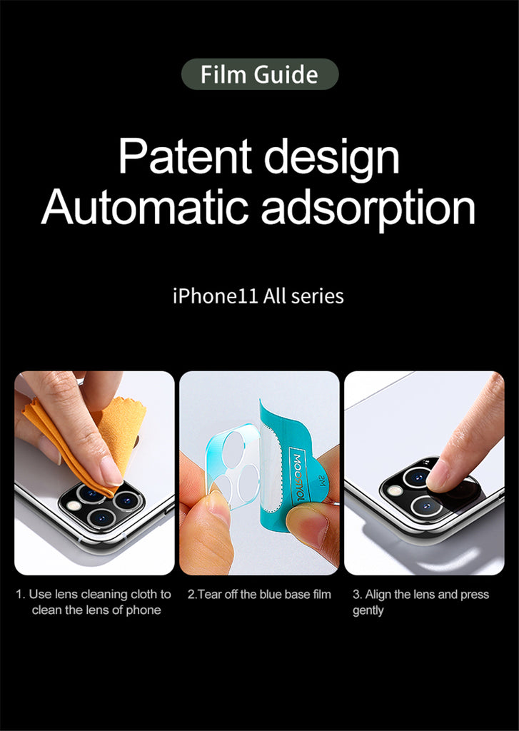 3D Lens Protective Glass Screen Protector For iPhone 11 Pro/ Pro Max Tempered Glass For iPhone 11 Camera Film Back Protector