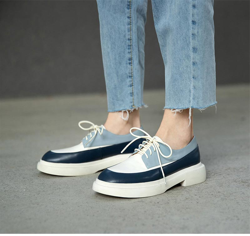 Natural Genuine Leather Loafers Ballet Flats Shoes
