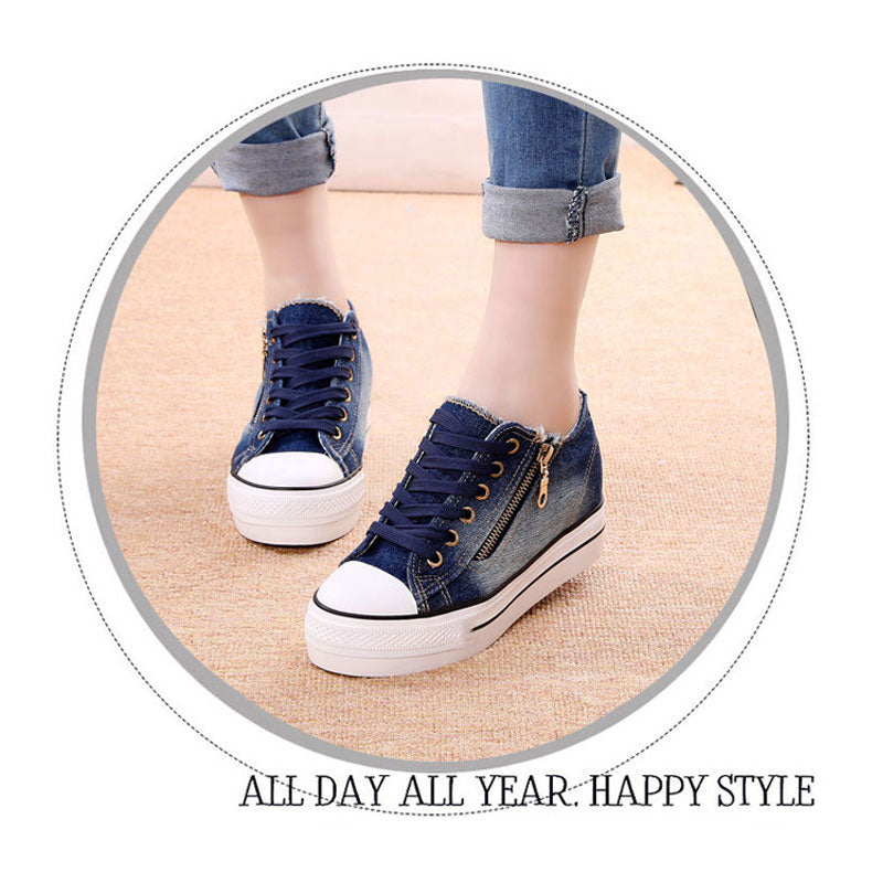 calethy women casual Sneakers canvas flats shoes