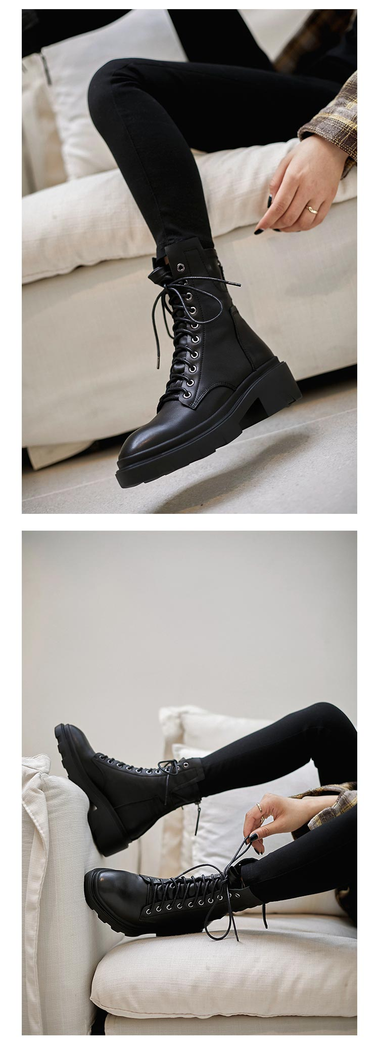 Calethy Shoes Martin Boots