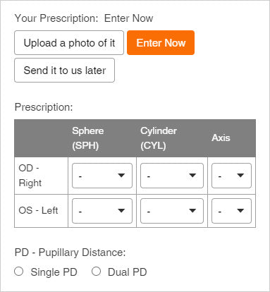 efe_optical_how_to_order_provide_your_RX_and_PD