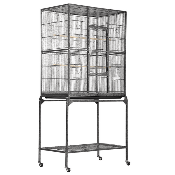 H 63-inch Rolling Flight Cage