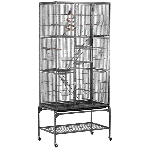 H 69-inch Large Rolling Flight Cage