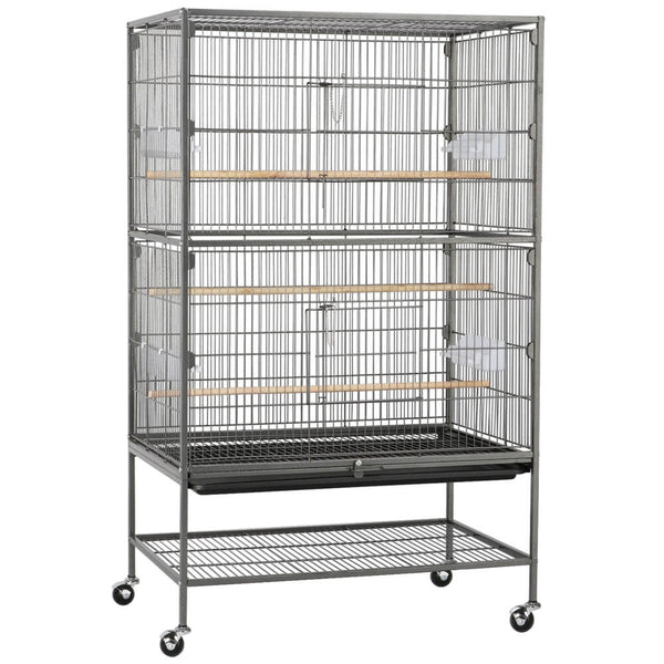H 52-inch Rolling Flight Cage