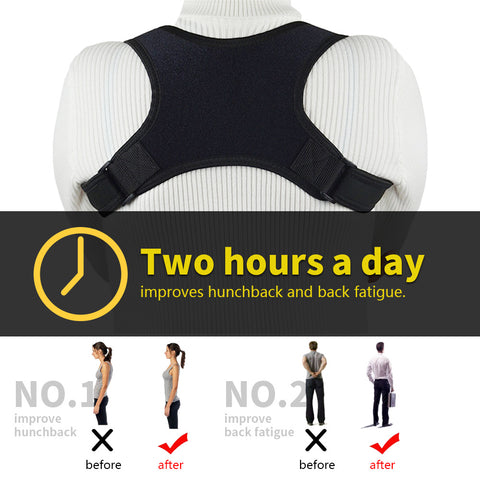 Posture Corrector for Men and Women Adjustable Upper Back Brace Posture Support - Back Brace