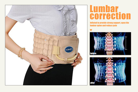 Back Decompression Belt Lumbar Support  Cordless Heated Waist & Lumbar Decompression Belt for Lower Back Pain Relief