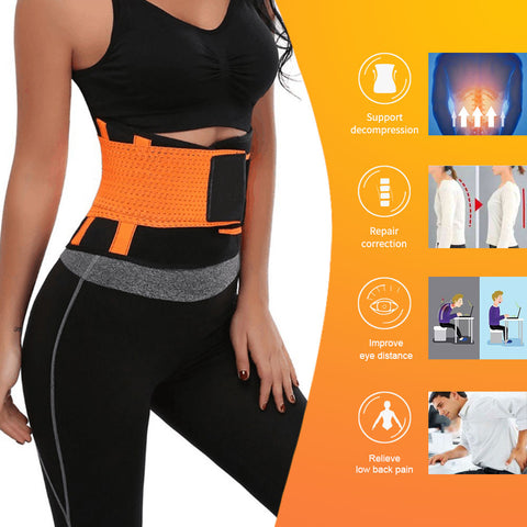 Back Support Belt adjustable Support Straps Breathable Mesh Design with Lumbar Pad