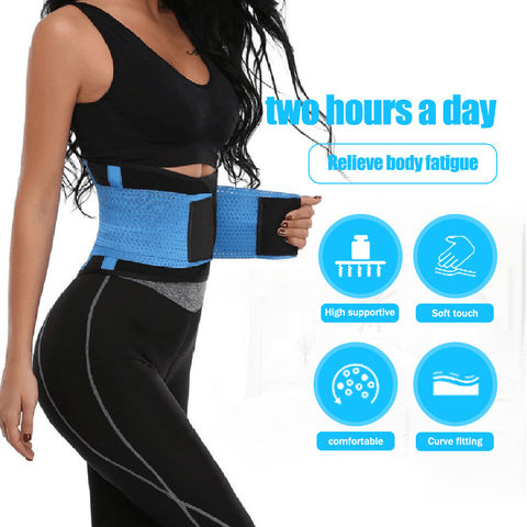 Lumbar Supports Belt, Back Brace Posture Corrector for Lower Back Pain, Adjustable Waist Trainer Belt to Relieve Sciatica and Herniated Disc for Men and Women