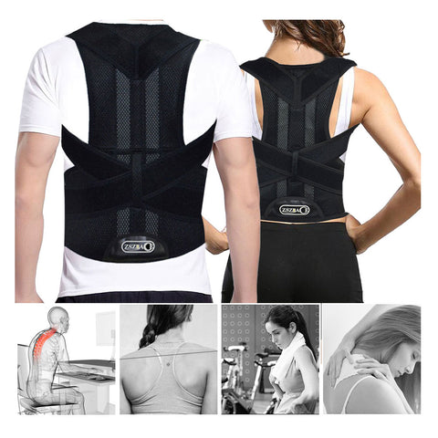 Posture Corrector For Men And Women - Adjustable Upper Back Brace Adjustable Back Brace