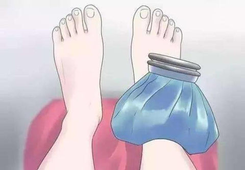 Cool your sprained ankle with an ice pack