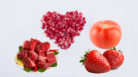 Red-colored food