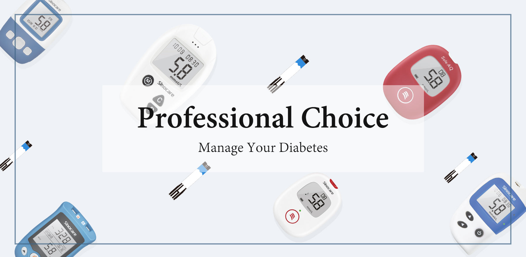 Sinocare Diabetes Test Kit - wholesale business Banner