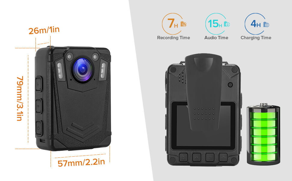 BOBLOV DMT204 Body Camera Support 8 Hours Working