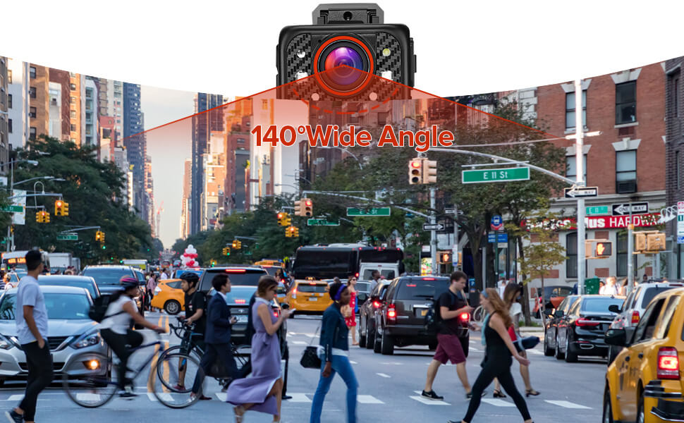 BOBLOV X1 Camera has 140° wide angle allows users to capture more information