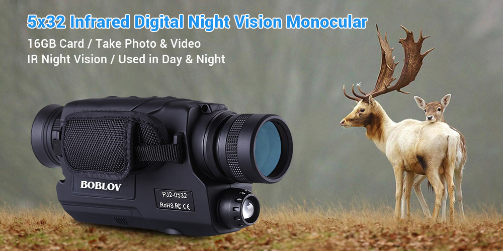 BOBLOV Digital Night Vision Monocular PJ2