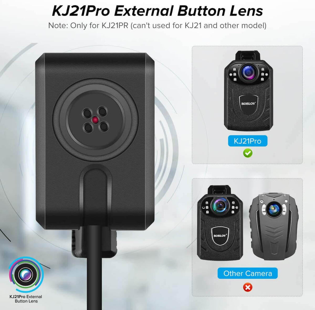 BOBLOV KJ21PRO Button Camera External Lens Camera 720P