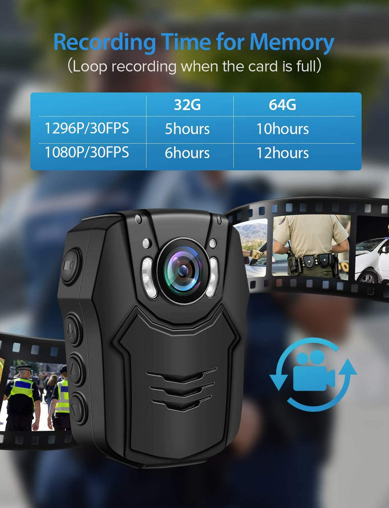 BOBLOV PD50 HD 1296P Body Camera.4