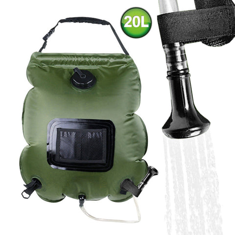 LUOOV Solar Shower Bag,5 gallons/20L Solar Heating Premium Camping Shower Bag with Removable Hose Shower Head for Climbing Hiking Fishing Hunting Beach Trips