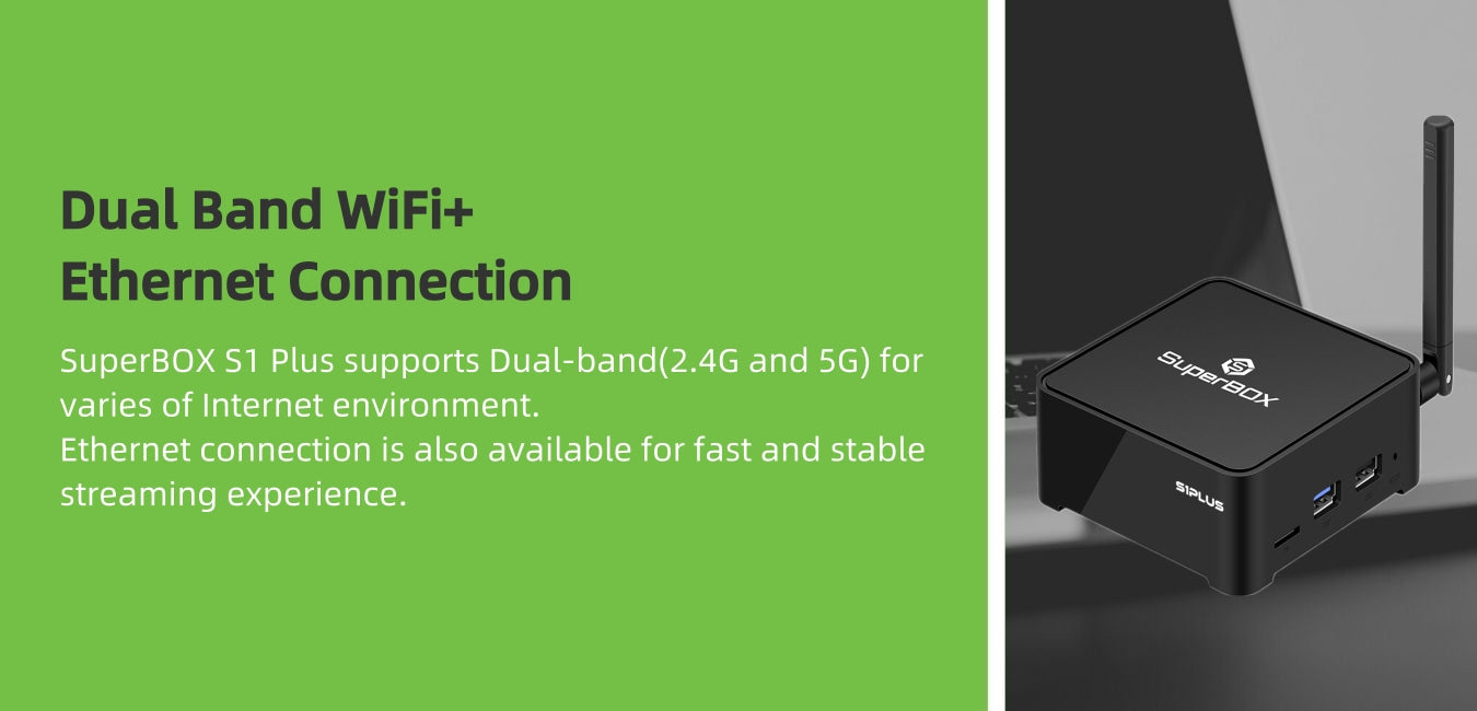 dual band WiFi+ Ethernet connection