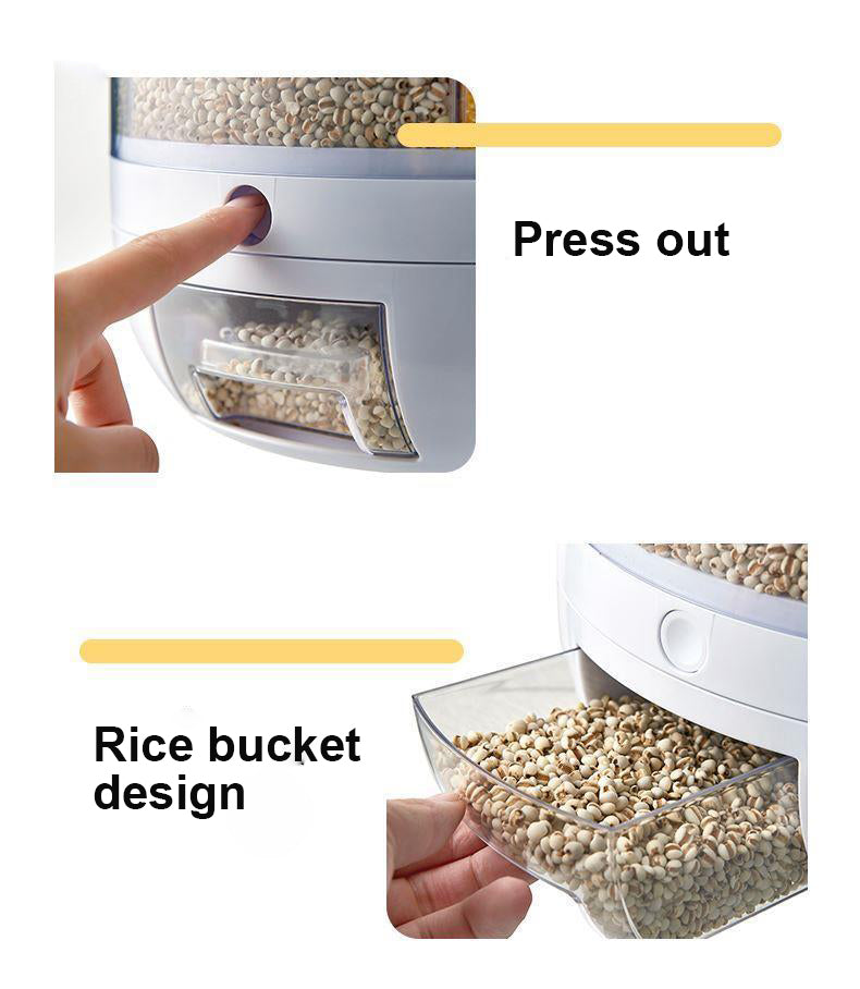 rotating compartment container