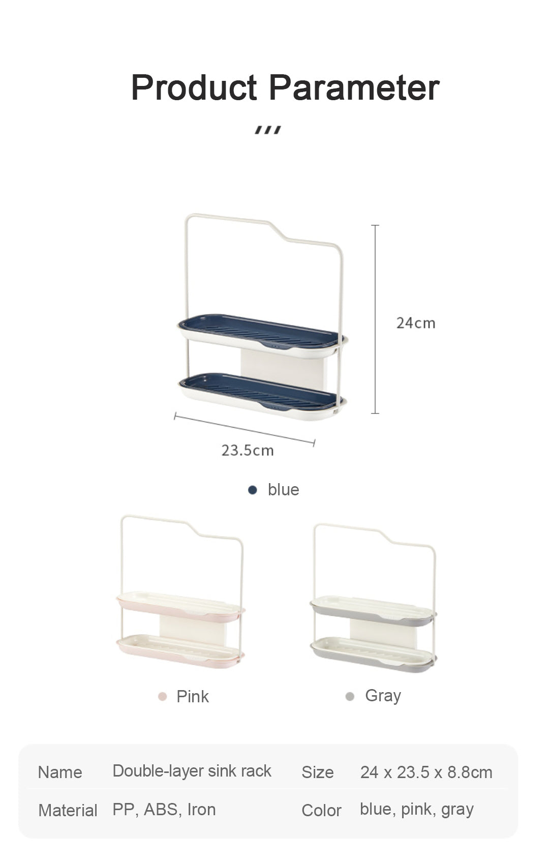 double layer sink rack