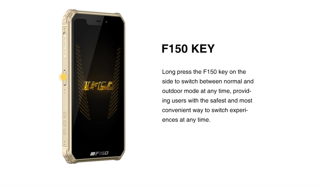 F150 Key found on the side of the B2021 rugged phone is explained