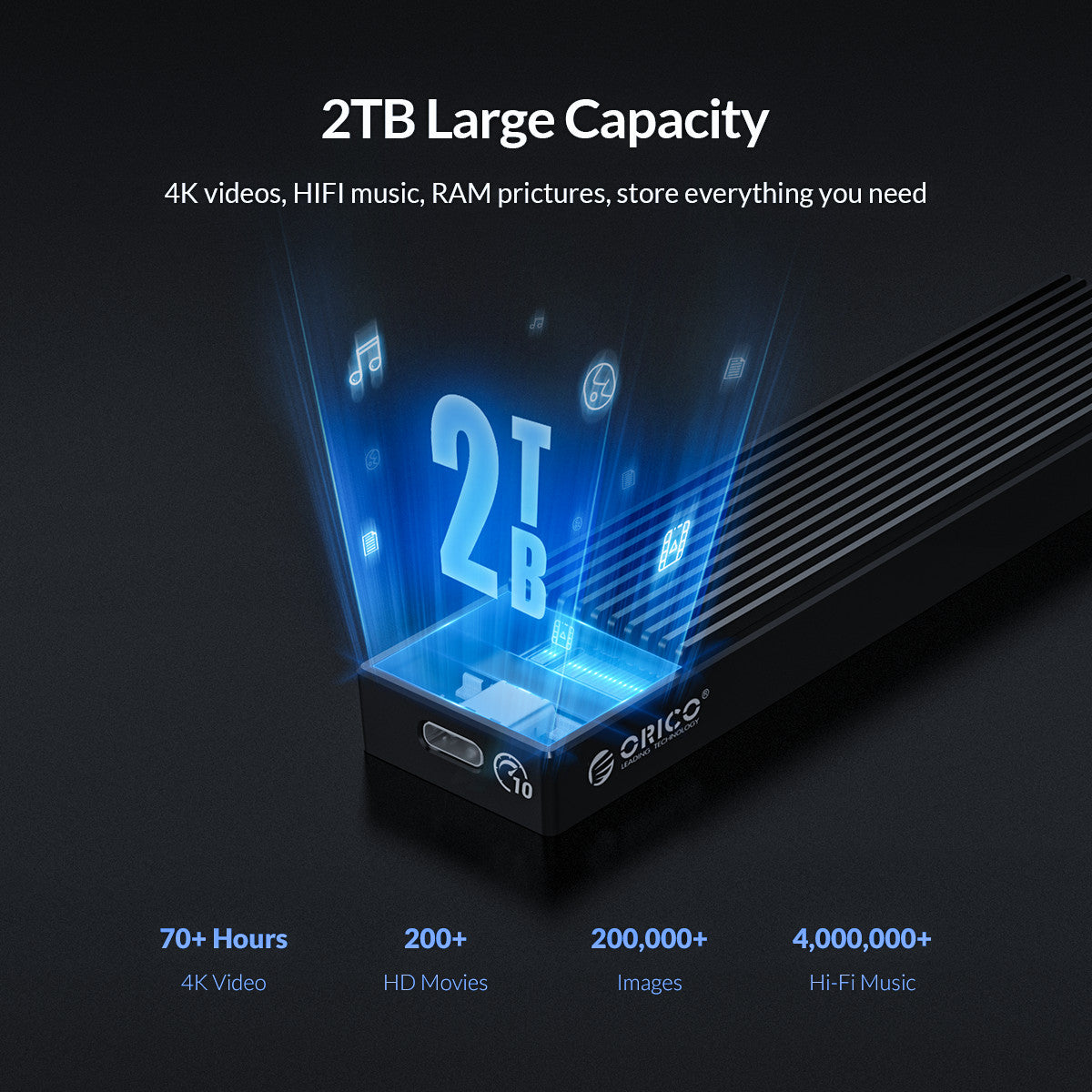 LSDT M.2 NVME Enclosure USB C Gen2 10Gbps PCIe SSD Case M2 SATA NGFF 5Gbps SSD Case Tool Free For 2230/2242/2260/2280 SSD