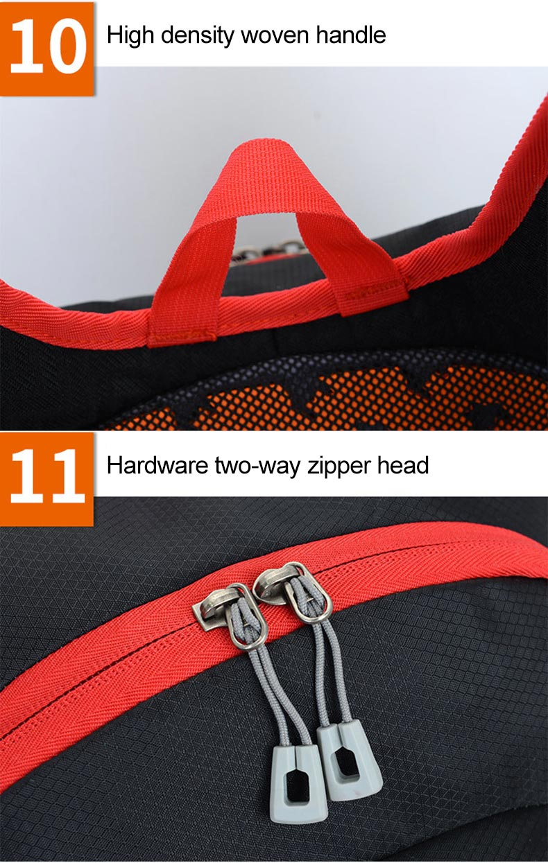 25L Sport Cycling Bag Rid Backpack For Bicycle Women Men Bike Outdoor Running Hiking Black Reflective Cycling Backpack