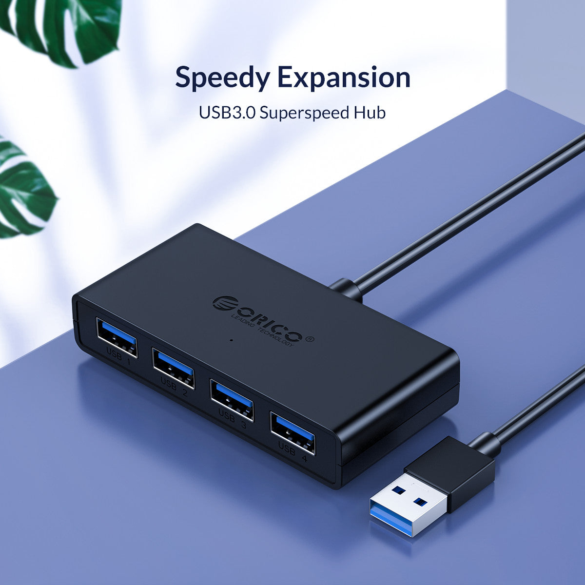 USB HUB 4 Port USB 3.0 Splitter With Micro USB Power Port Multiple High Speed OTG Adapter for Computer Laptop Accessories