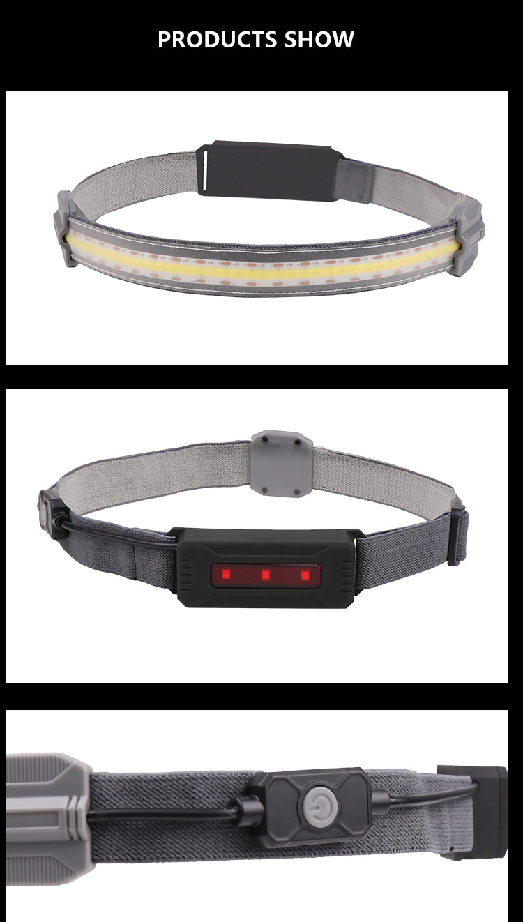 Led Headlamp Built-in Battery Rechargeable Headlight Head Waterproof Lamp White & Red Lighting for Camping Working