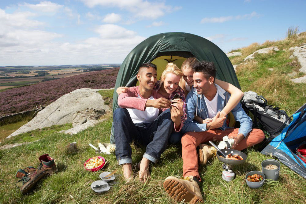 Outdoor Camping Cookware Backpacking Bowl Pot+ Mini Canister Stove Burner Foldable