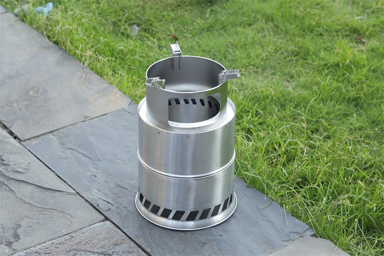 Outdoor Camping Furnace Portable Camping Stove for Barbecue