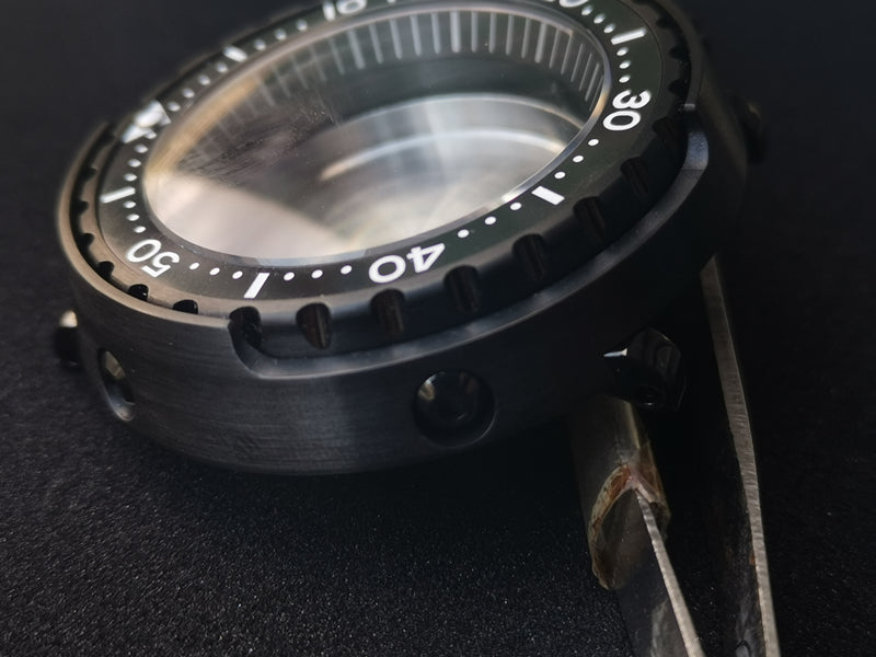 PVD black heimdallr tuna watch case